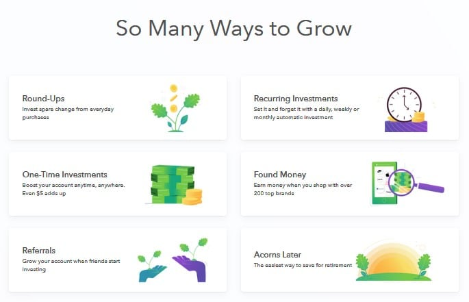 Acorns- free online college financial tool