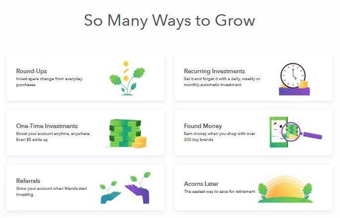 Acorns- free online college financial tool