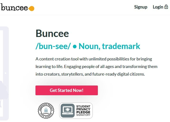 Buncee screenshot