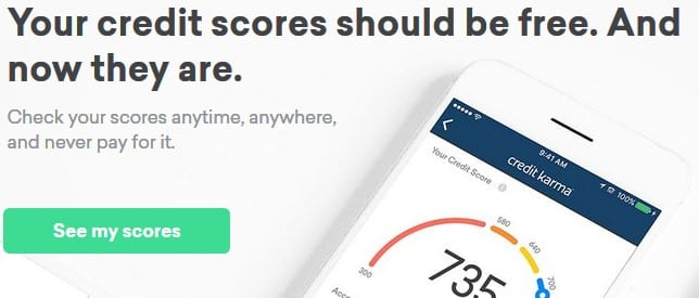 Credit Karma - free online college financial tool