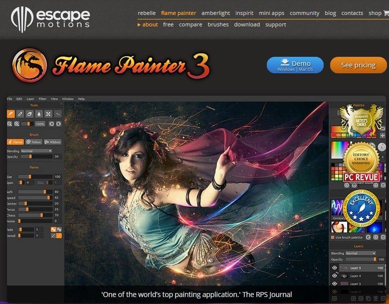 Flame Painter screenshot
