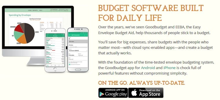 GoodBudget - free online college financial tool