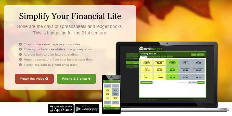 NeoBudget - free online college financial tool