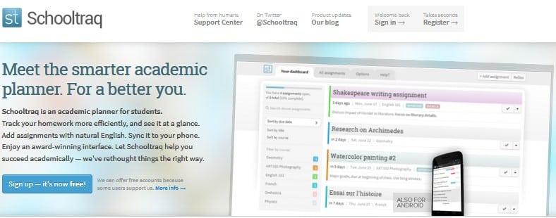 Schooltraq screenshot