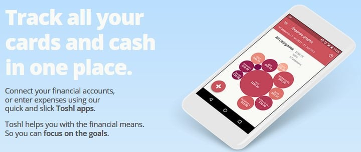 Toshl - free online college financial tool