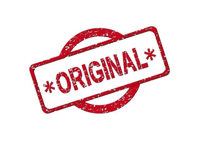 plagiarism - original stamp