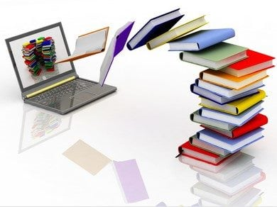 books and computer - online learning
